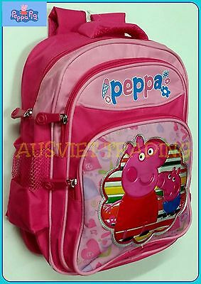 BNWT Brand new Peppa Pig Medium Bag Preschool Daycare Girls Backpack