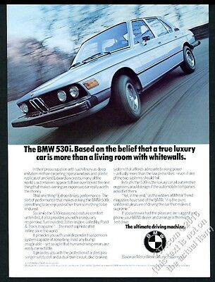 1976 BMW 530i car color photo vintage print ad