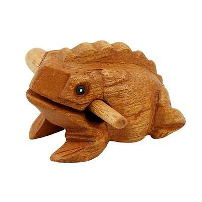 Wood Frog Rasp Percussion Musical Instrument Tone Block with Stick NEW -S