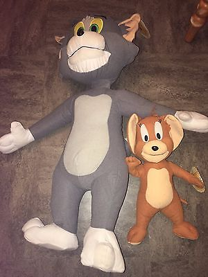TOM AND JERRY large PLUSH DOLLS   [ tom 30 inch & jerry 12 inch ]