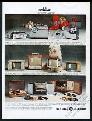 1969 Old English Sheepdog photo General Electric appliance Christmas print ad
