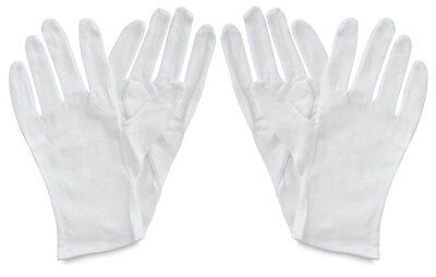 12x pairs/24 pieces of White Cotton Gloves work Jewellery Costume *Free Postage*