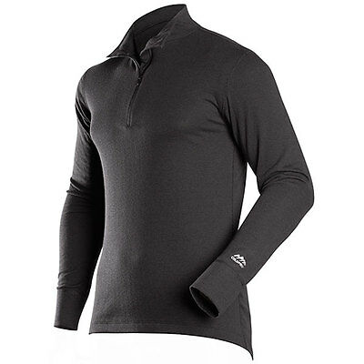 ColdPruf Mens Extreme Performance Dual Layer Thermal Undewear Mock Zip Top Large