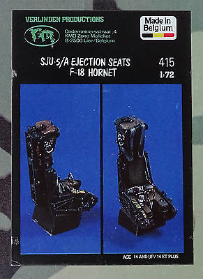 VERLINDEN PRODUCTIONS #415 SJU-5/A Ejection Seats for F-18 Hornet in 1:72