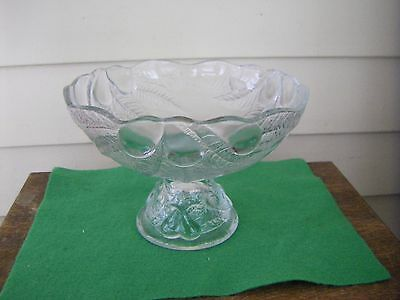 Clear Glass Compote Fruit Bowl