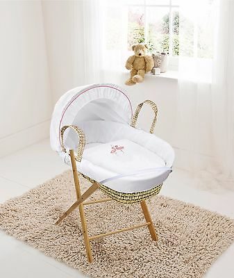 Clearance Flamingo Palm moses basket + Opal Folding Stand