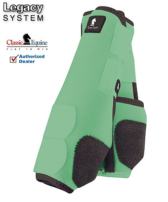 Classic Equine LEGACY SYSTEM Mint Front M SMB Leg Vented Neoprene Sport Boots