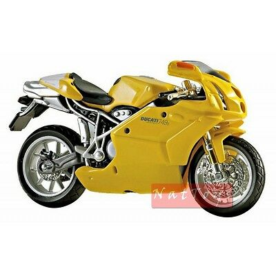 Maisto Ducati 749s Yellow Moto Bike Modellino 1:18 DIE CAST MODEL