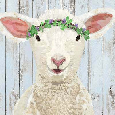 """Paperproducts Design  High Quality Paper Beverage Napkin, """"MAISIE"""" THE LAMB"""