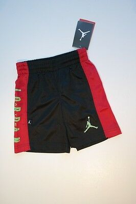 NEW NWT AIR JORDAN NIKE JUMPMAN Black & Red Athletic Sports Shorts Boys 4