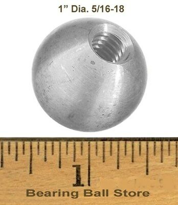 "One 1""  dia. threaded 5/16-18 aluminum ball  knob"