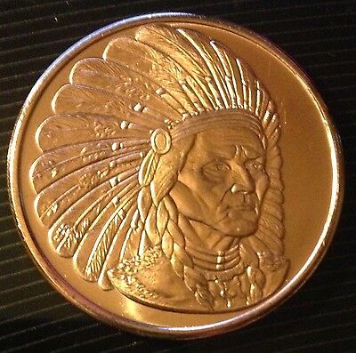 Other Bullion 1 Oz Copper Coin Native American Indian Series # 2 Copper Bullion Round Bullion
