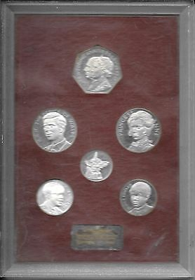 1972 Franklin Mint Silver Wedding Anniversary Royal Wedding Coin Proof Set