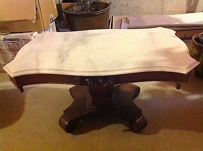 Victorian Marble Top Coffee Table Beautiful! Must See! Pick up Only