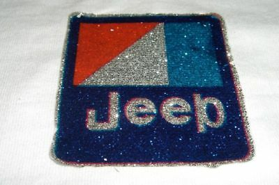 Vintage Pocket T-Shirt Iron-On Transfer *jeep* Glittery Colorful
