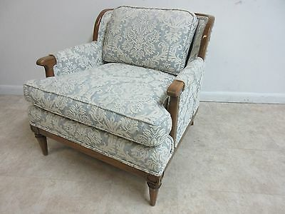 Vintage Mid Century Regency Fireside Lounge Living Room Chair Danish Modern