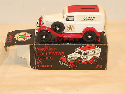 #3 1986 Texaco 1932 For Delivery Van Bank, New In Original Box