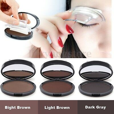 New Eyebrow Shadow Definition Makeup Brow Stamp Powder Palette Delicated Natural