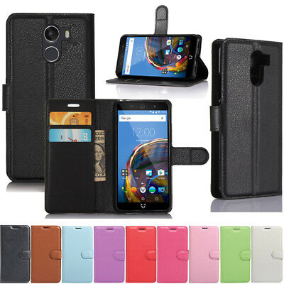Luxury Flip Leather Wallet Card Soft Cover Case Stand For Wileyfox Swift 2 Plus