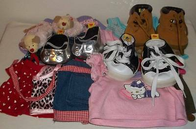 Large Mixed Lot Of Build A Bear Workshop Clothes & Shoes ~ Hello Kitty
