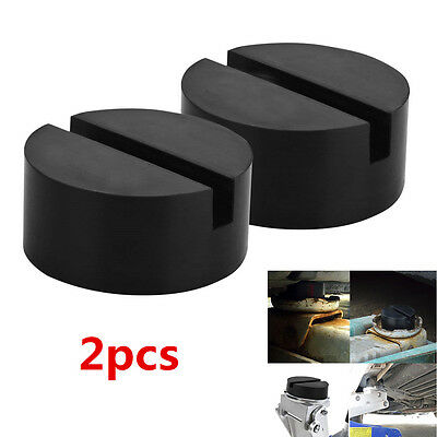 2pcs Black Car Floor Hydraulic Jack Disk Pad Adapter for Pinch Weld Side JACKPAD