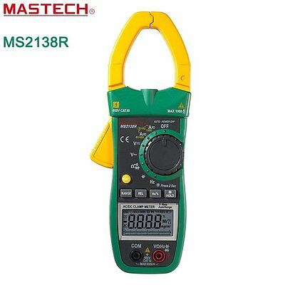 MASTECH MS2138R 4000 Counts Digital  Clamp Meter Multimeter Resistance Tester