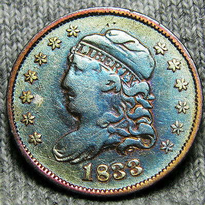 1833 Capped Bust Half Dime  ---- TYPE COIN ---- #O373