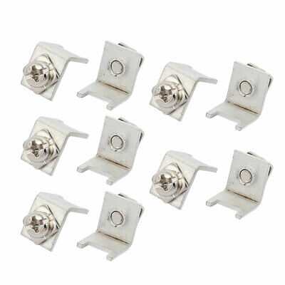 10 Pcs M4 2P PCB-57 Side Face Snap in Screw Terminal w Rect Spacer Screw