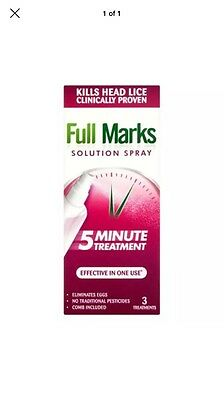 Full Marks Nit Solution Spray 5 Minute Treatment (3 Applications)150ml WITH COMB