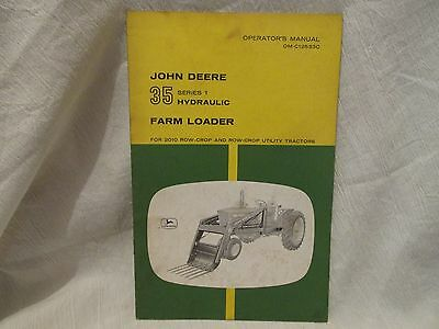 Vintage John Deere Operator's Manual 35 Series 1 Hydraulic Farm Loader