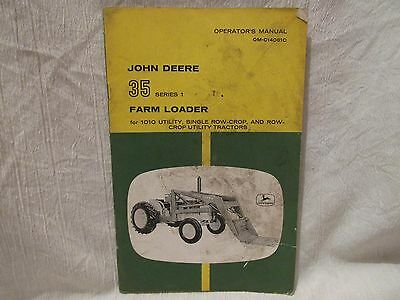 Vintage John Deere Operator's Manual 35 Series 1 Farm Loader