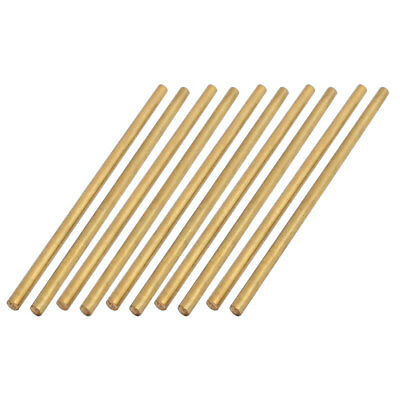 10 Pcs 2mm Dia 50mm Length Brass Solid Round Rod Bar for DIY RC Car
