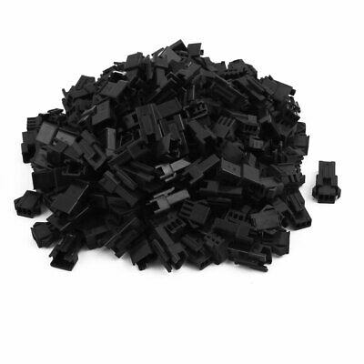 100pair 2.5mm Pitch 3 Terminals  JST SM Male Female Housing Connector Black