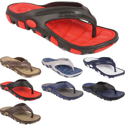 New Mens Holiday Summer Beach Comfort Casual Sandals Slippers Flip Flops Sizes