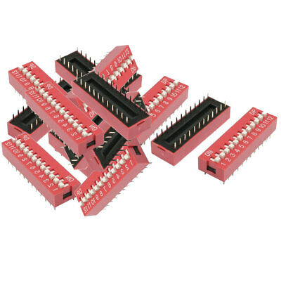 14 Pcs 2.54mm Pitch 12 Positions Slide Type DIP Switch