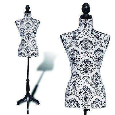 New Female Mannequin Torso Dress Form Clothing Display Tripod Stand Modle