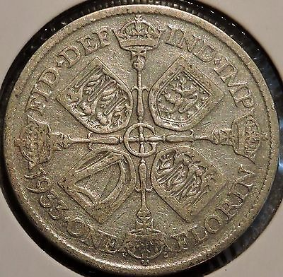 British Florin - 1933 - Big Silver Coin - $1 Unlimited Shipping