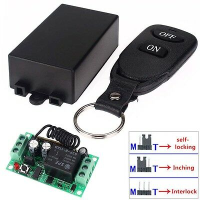DC 12V 10A Relay 1CH Wireless RF Remote Control Switch Transmitter + Receiver BO