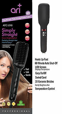 2019 New Electric Hair Straightener Brush Comb LCD Ion Anti-Scald Auto Massager