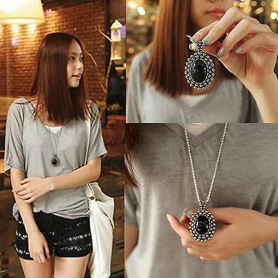 Retro Charm Jewelry Crystal Pendant Long Chain Sweater Necklace Fashion Gift SB