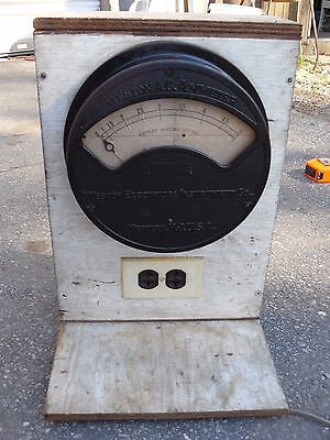 Antique Weston MODEL 151  A.C.AMMETER   Patented 1895 WAPPLER ELECTRIC CO