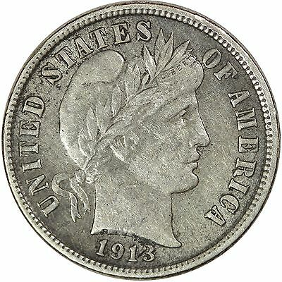 1913-S Barber 10C, Very Nice VF/EF