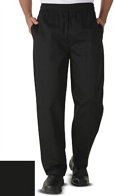 NEW~Black Unisex ChefUniforms Chef Pants SM (wst 30-32) Classic Relaxed Fit 9201