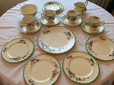 "Vintage Grindley  ""Creampetal""   Cups And Saucers Plus Plates"