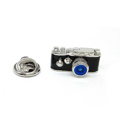 Retro Camera Blue Lens, Photographers Lapel Pin Badge X2AJTP122
