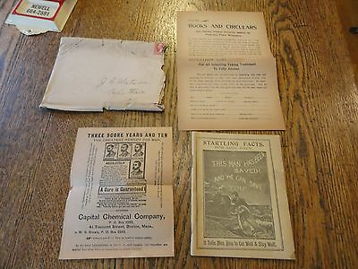"1902 ""Capital Chemical Co."" Brochures/Book - Erectil Disfunction"" -Orig Envelope"
