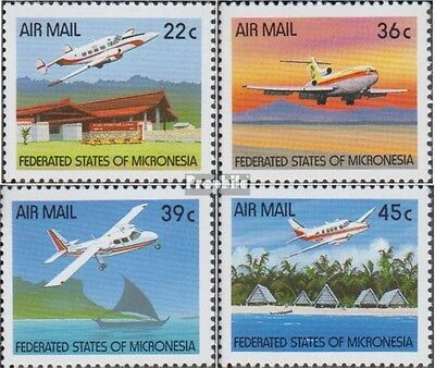 Mikronesien 184-187 (complete.issue.) unmounted mint / never hinged 1990 Aircraf