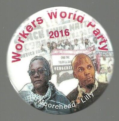 Moorehead Lilly Workers World Party 2016 Political Campaign Pin