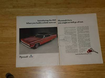 Vintage Magazine Ad - 1969 - Plymouth Fury & Belvedere (four-pages)
