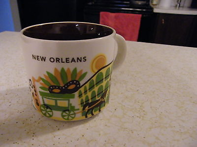 2014 Starbucks Mug Collection YOU ARE HERE 14oz  New Orleans  NEW-- no box